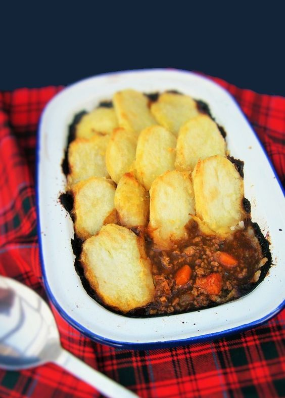 A traditional Scottish recipe for cottage pie but suitable for vegetarians and vegans. It can also be topped with mashed potato or looking further back in history, pastry. #vegan #veganrecipe #scottishrecipe
