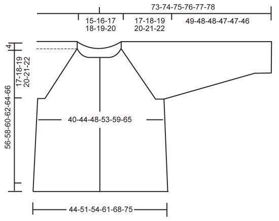 """Aaltokuvioinen DROPS raglanjakku """"Fabel""""-langasta. Koot S-XXXL. Ilmaiset ohjeet DROPS Designilta."""