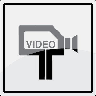 Video kamera piktogram i rustfrit stål - Køb online -