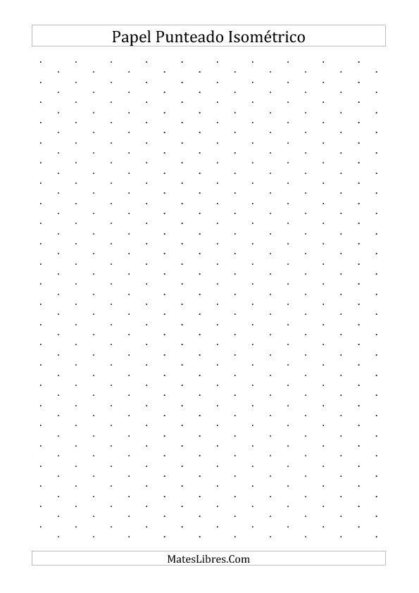 Papel Isométrico Punteado de 1 cm (Vertical) (A) | Nuevas
