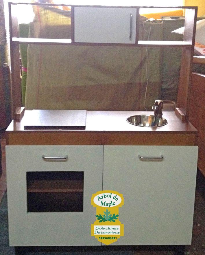 Cocina, cocinita para niños en madera. Arbol de Maple, fábrica de ...