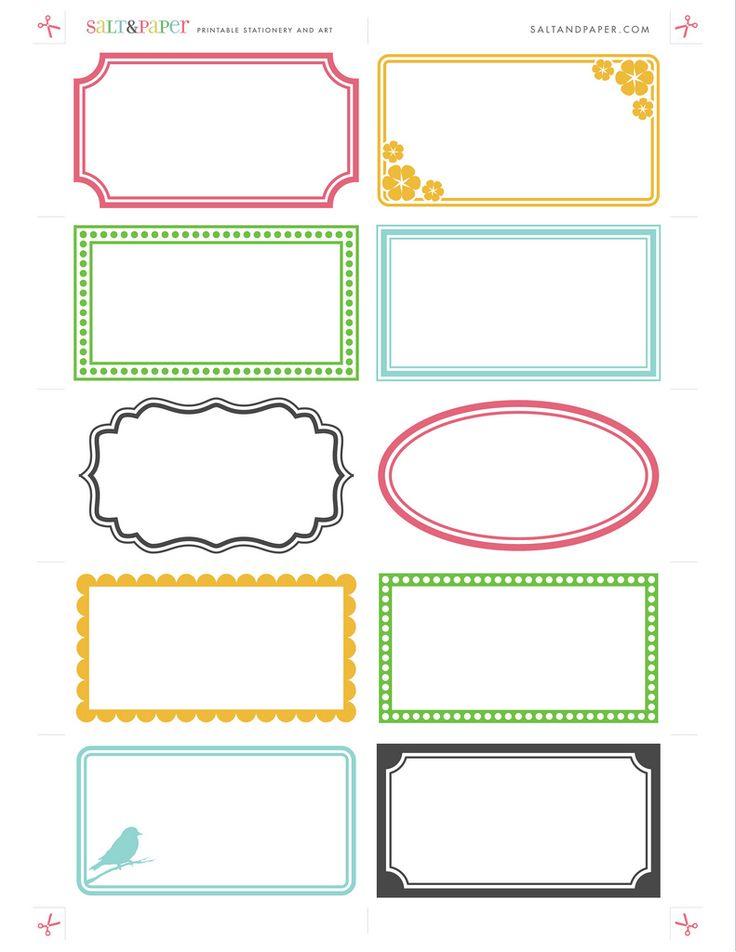 Printable Labels From Saltandpaper Com Printables Pinterest