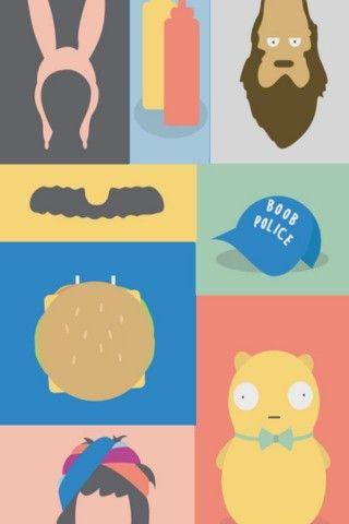 Bob's Burgers TV Series Illustrations iPhone 5 Wallpaper