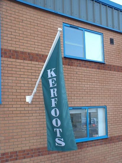 Custom Printed Angled Wall Flag
