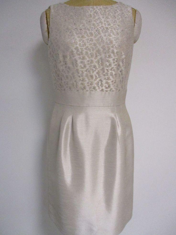 Tahari Arthur S Levine Gold sparkle Sheath Dress 8 #Tahari #Sheath #Cocktail