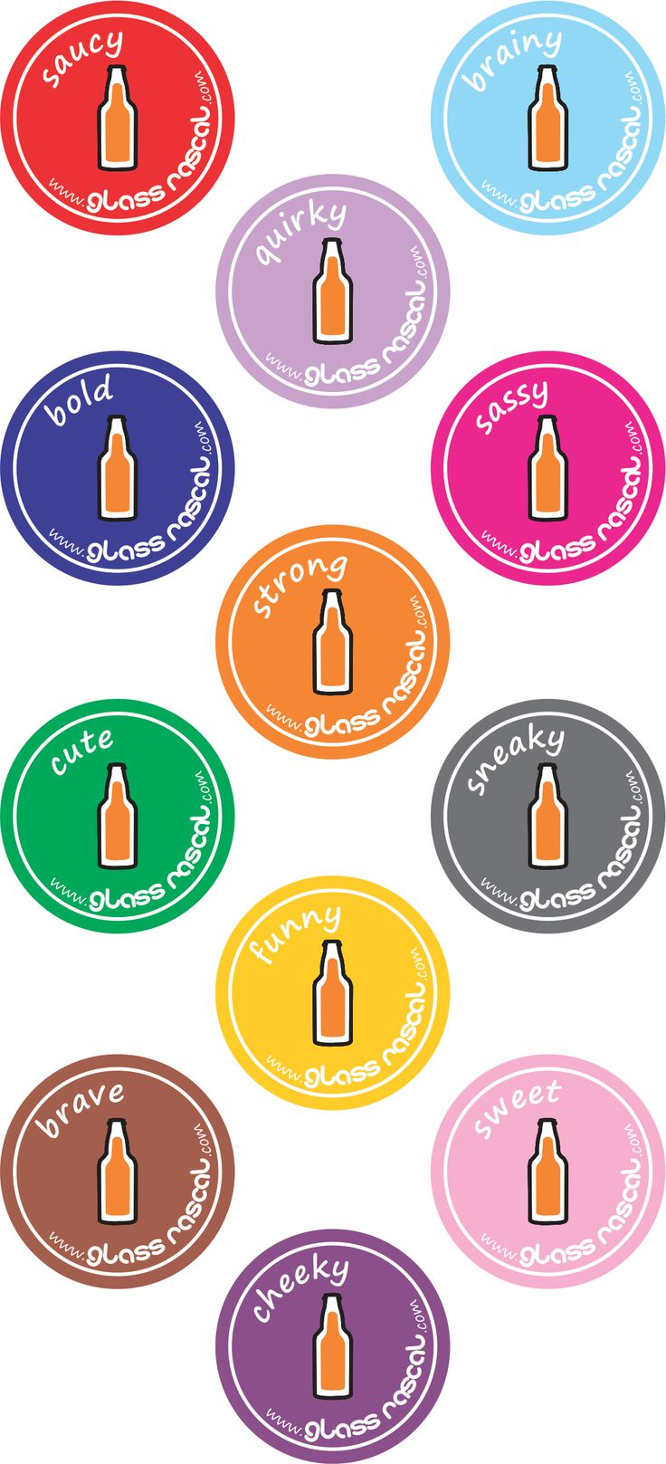 Glass Rascal Drink Labels