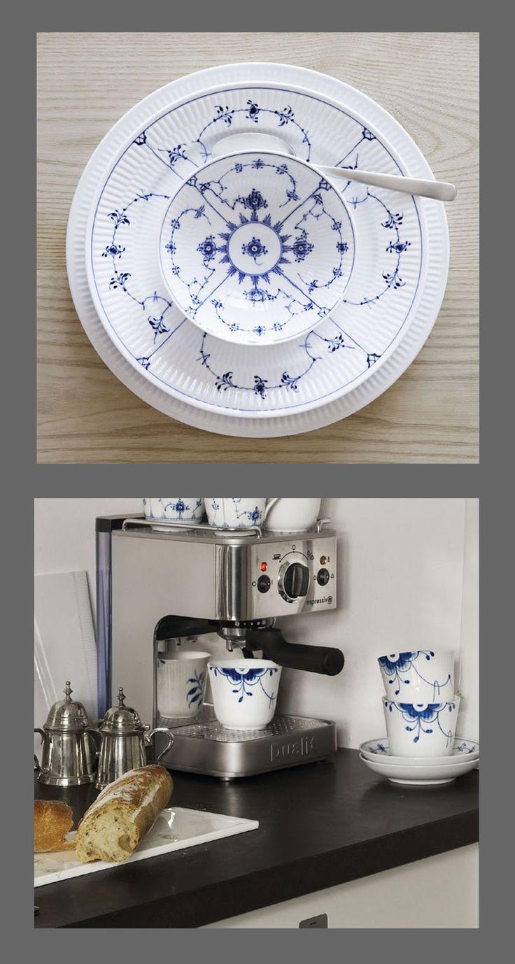 Royal Copenhagen china. I love blue and white china!