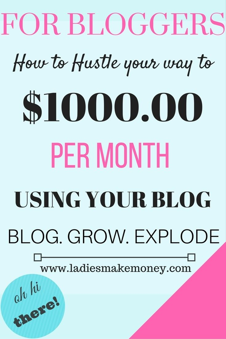How to hustle your way to making $1000 per month using your blog. The perfect e-book guiding you step by step to making money online.