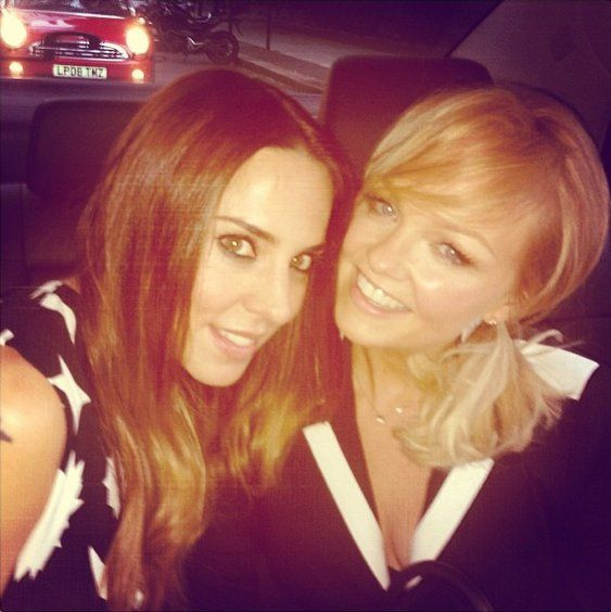 Pin for Later: The Spice Girls Reunite For Victoria Beckham's 40th Birthday  Mel C and Emma snapped a selfie in the car. Source: Instagram user melaniecmusic