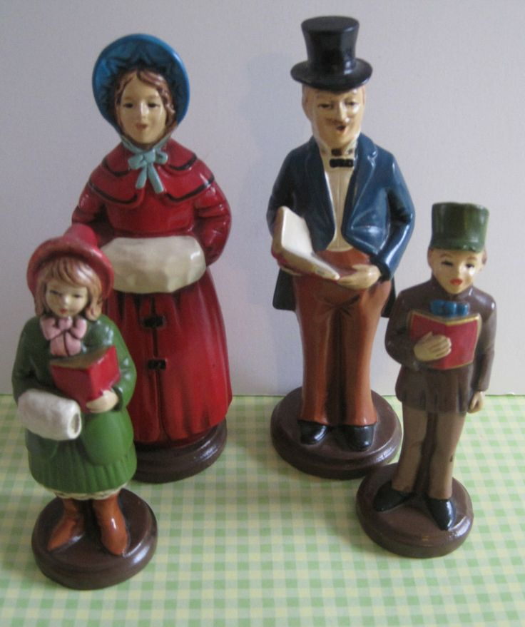 Singing Carolers Candleholders Figurines Vintage By: 394 Best Christmas Carolers Images On Pinterest