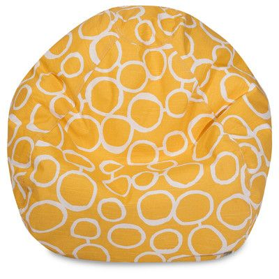 Fusion Classic Bean Bag Chair Color: Yellow - http://delanico.com/bean-bag-chairs/fusion-classic-bean-bag-chair-color-yellow-640360131/