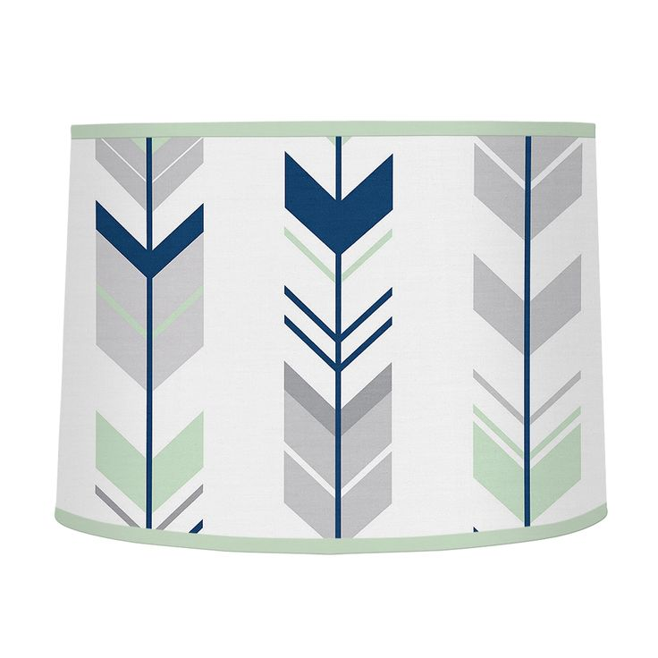 Top your lamp with this large lamp shade from Sweet Jojo Designs. Compatible with most sizes, this fabric arrow-patterned shade is an ideal complement to your modern interior. Shade Material: Fabric C