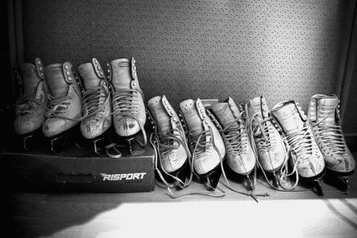 Many old skates...