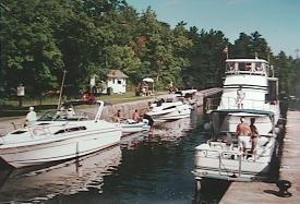 Boats in lock at Jones Falls