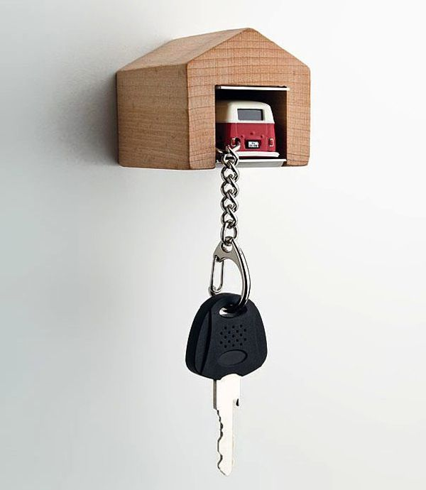 Mini Garage Shaped Key Holder