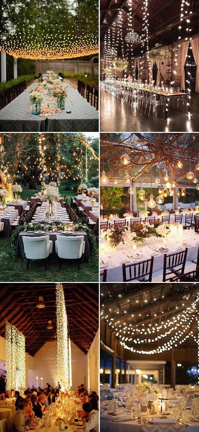 Stunning Wedding Reception Lighting Decoration Ideas Weddingtips Wedding Reception Lighting Wedding Lights Backyard Wedding Decorations