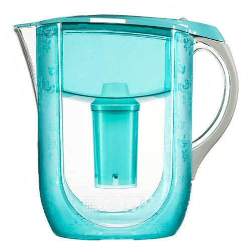 Product Description Features: - Filter Life: 2 Month/40 Gallon - Capacity: 10 Cups - Color: urquoise Pattern Versailles - Electronic filter indicator - Easy-fill lid - Comfort grip handle - BPA-free -