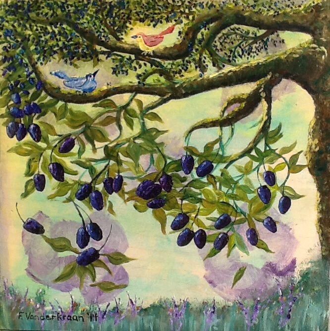 """OLIVE TREE""    2014          ....                            Artist: Franz Vanderkraan       ....                           Acrylic on wood"