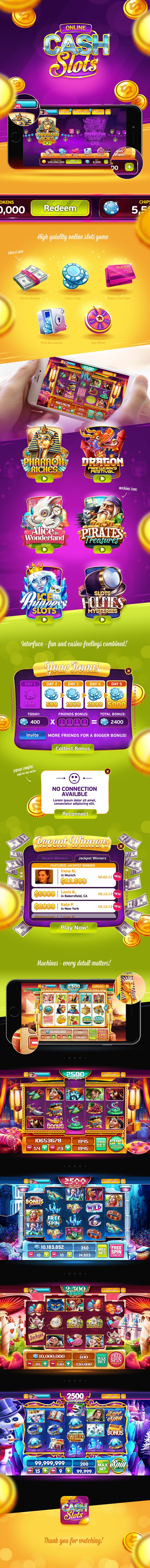 Game UI concept for online slots game.