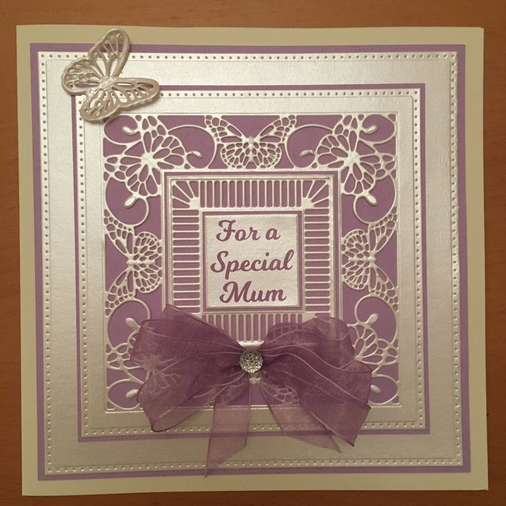 This card was made using Sue Wilson's Butterfly Frame Die Set. The sentiment was cut from vinyl using a Silhouette Cameo.