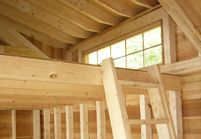 Very nice loft window tiny house living pinterest for Cottage bunkie plans
