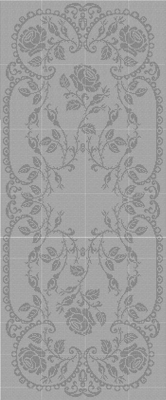 Filet crochet 38c2922183eb8240e9c75fd2032b4285.jpg (327×785)