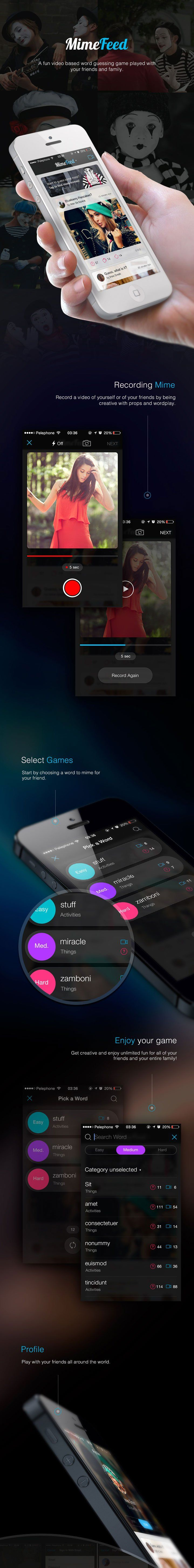 MimeFeed. Game App