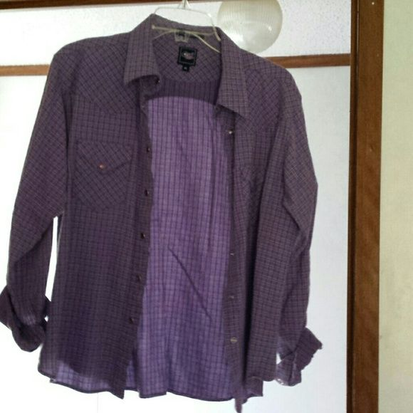 Cruel girl western shirt Pretty purple button down shirt Tops Button Down Shirts