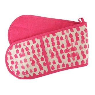 KITCHEN/TABLE LINENS - Floragraphica Double Oven Glove - Kerridge Linens & More