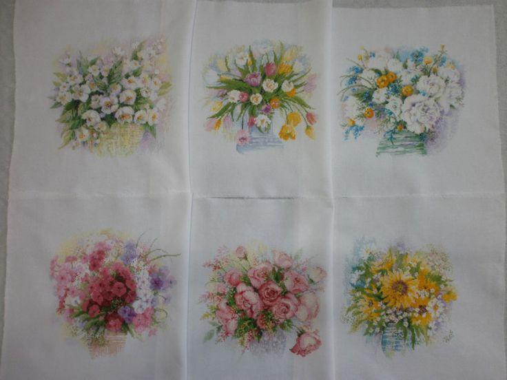 Вышивка крестом акварельные цветы