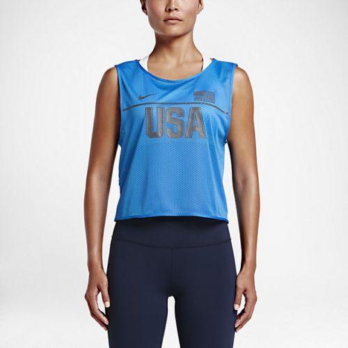 Women's NIKE Dri-Fit Team USA 812024 435 Sleeveless Running Tank Top Size XS NWT #Nike #ShirtsTops