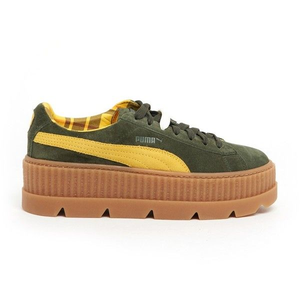 FENTY PUMA BY RIHANNA Sneakers With Check Details ($120) ❤ liked on Polyvore featuring shoes, sneakers, multi colored shoes, multicolor shoes, checkered sneakers, multi color sneakers and puma trainers