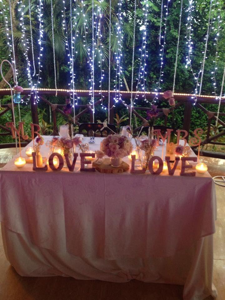 CBI109 Weddings Riviera Maya String lights or Christmas lights  for Sweetheart table / Boda  cascada de luces para mesa de los novios