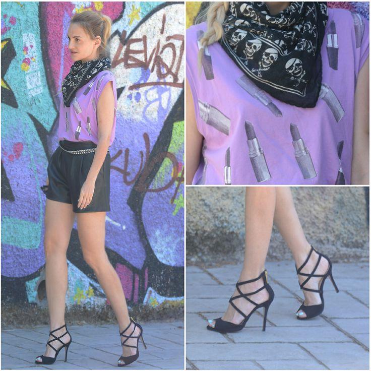 Η Eva, Blogger από το Model Approved Blog, με πέδιλα #SanteShoes από τη νέα Collection Spring/Summer 2014 #SanteLook #SanteBloggersSpot