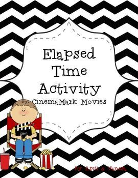 FREE Elapsed Time Worksheet!  Students use a real world concept, movie theater times, in order to explore concepts of elapsed time. In this activity, students read the sample movie times and answer questions about beginning and ending times.   This worksheet comes in both English and Spanish.