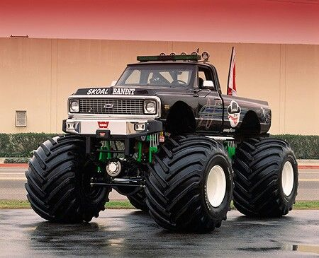 Sweet monster truck