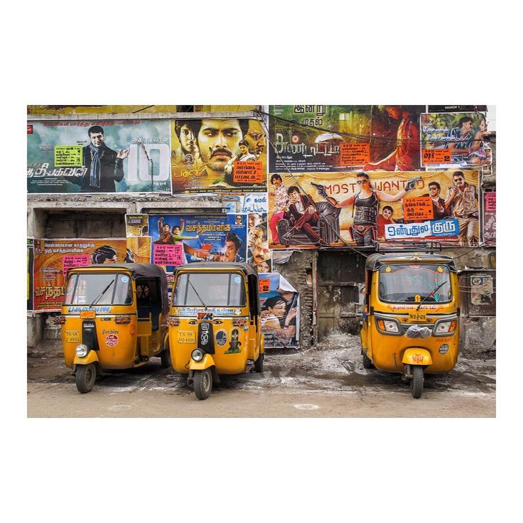 My new India 🇮🇳 serie 3/12. Tuk-tuks in Madurai.    via @damienligiardi / Instagram