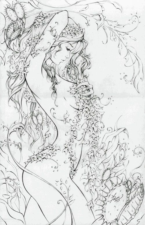Poison Ivy by Dawn Mcteigue.......Pre-booking NYCC 2013, in MGA-MICHAEL ALEXANDER's FOR SALE Comic Art Gallery Room