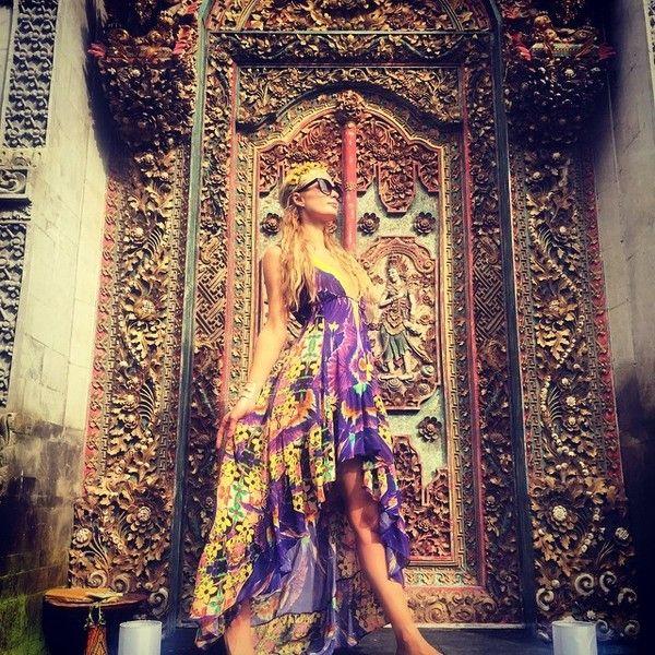 Paris Hilton Visits Bali in Color