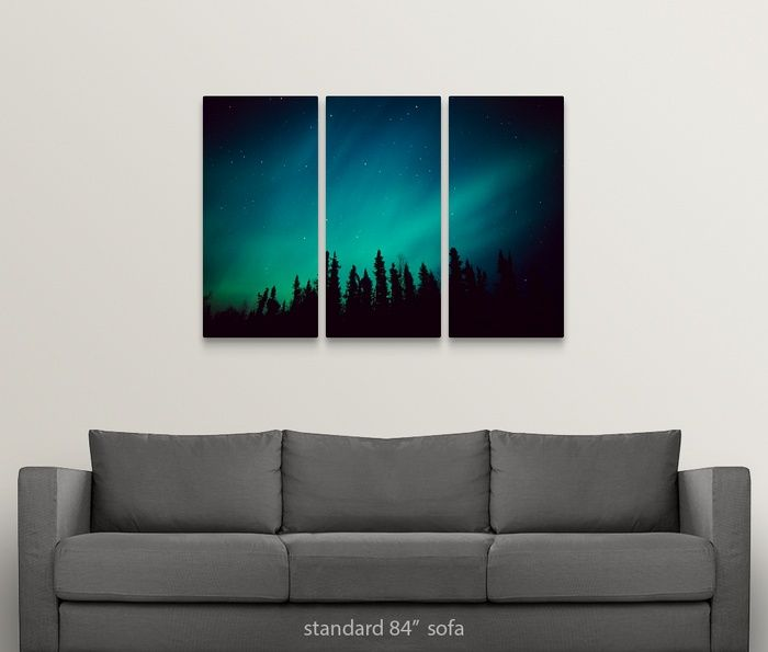 Northern Lights Over Black Spruce Forest During Winter In Southcentral Alaska Northern Lights Decorations Posters Art Prints Canvas Prints