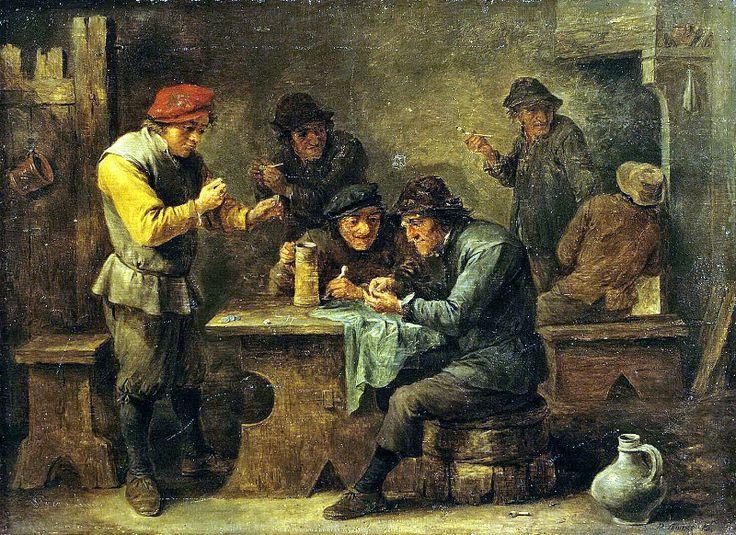 енирс, Давид Младший - Крестьяне, играющие в кости