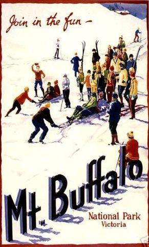 "Australia Historical Travel Poster ""MT Buffalo"" | eBay"