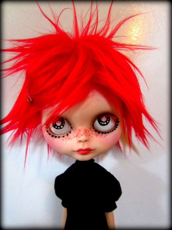 Ruby Gloom A OOAK Blythe Art Doll by shepuppy on Etsy, $395.00