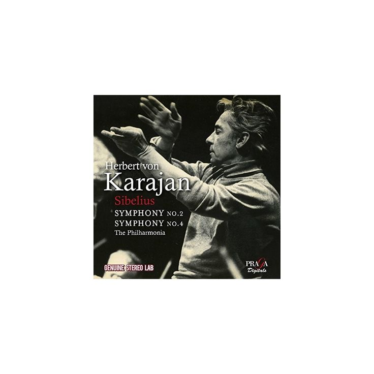 Sibelius & Herbert Von Karajan - Symphonies Nos. 2 & 4 (CD)