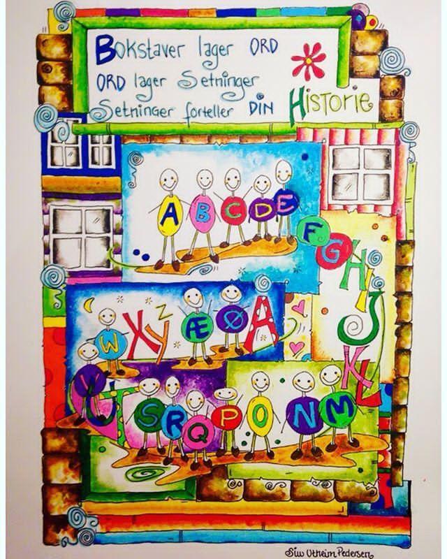 Bokstaver LaGer ORD, ord lager seTniNger og setninger forteller Din HISTORIE ❤️ Bildet til salgs på hjemmesiden min: http://siwutheimpedersen.123hjemmeside.no 🎨 #art #artist #artwork #artoftheday #artcollective #artistic #arts #tromsø #norway #itromso #itromsø #mydesign #mywork #interiør #living #barn #barnerom #barneromsinspirasjon #barnerommet #kinderzimmer #interiør_and_living #kkmagazine #tegning #tegne #draw #drawing #aquacolours #fargeglade_tegninger #ord #gmn