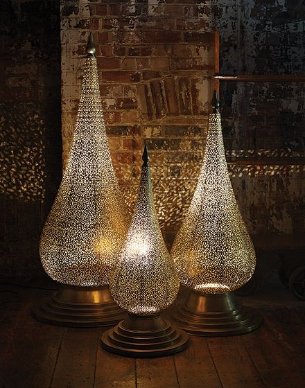 'Flame' Hand Crafted Moroccan Floor Lamp