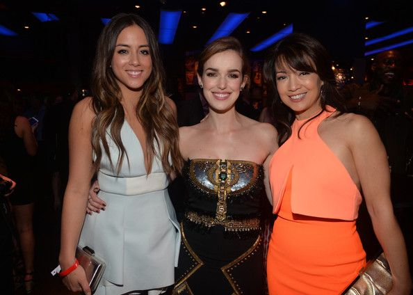 Chloe Bennet, Elizabeth Henstridge and Ming-Na Wen attend the after party for Marvel's 'Captain America: The Winter Soldier' premiere at the El Capitan Theatre on March 13, 2014 in Hollywood, California.