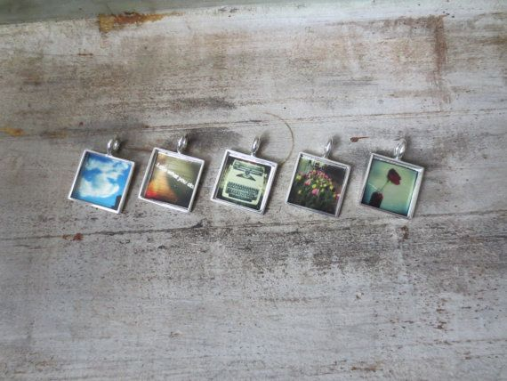 Instagram Photo Necklace Set of 5 for by CirclesAndSpades on Etsy