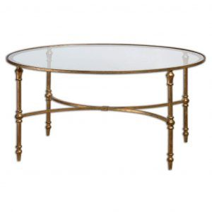 Brass And Glass Coffee Table Traditional