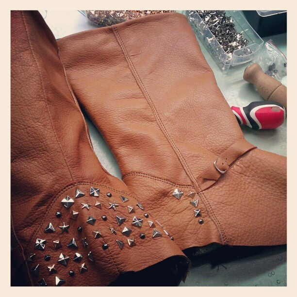 Working late for a special order <3 - @kali_shoes- #webstagram  #shoes #love #boots